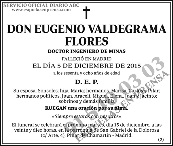 Eugenio Valdegrama Flores